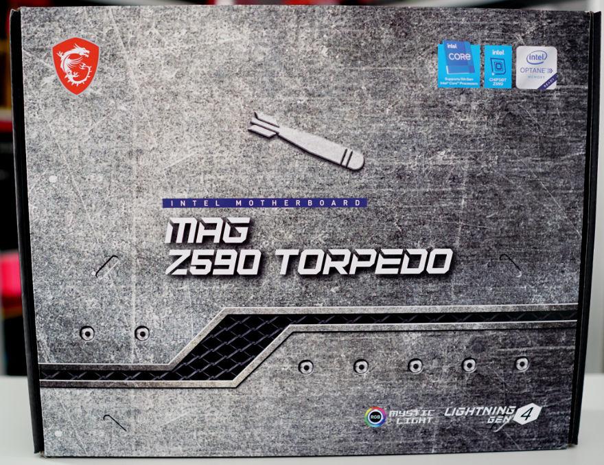 MSI MAG Z590 TORPEDO Motherboard box front