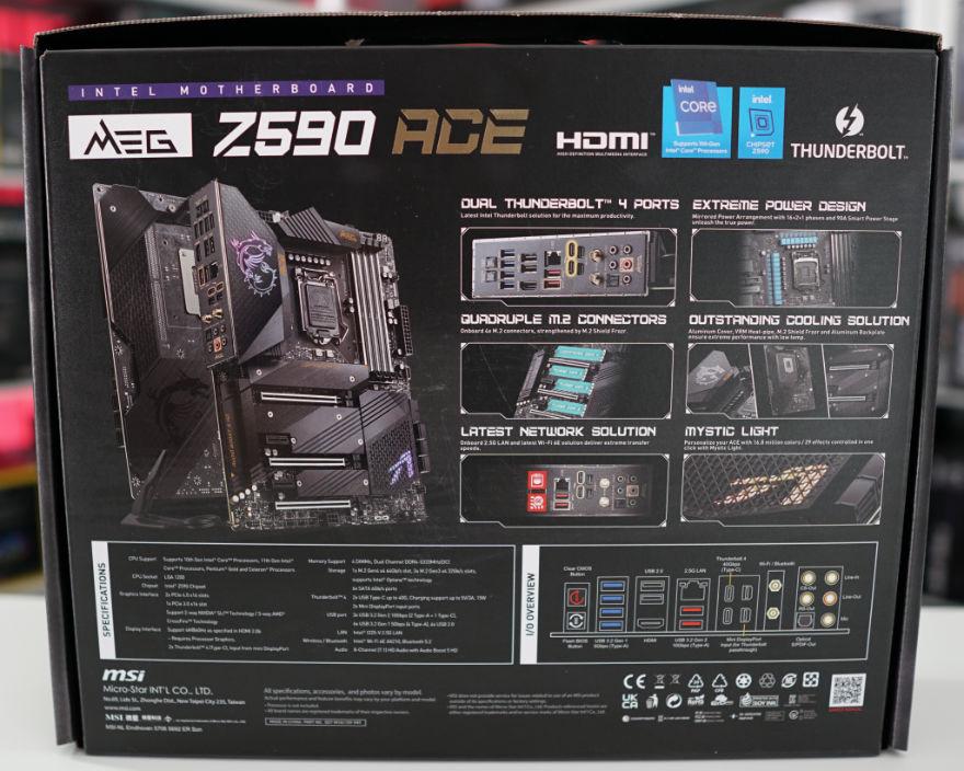 MSI MEG Z590 ACE Motherboard box back
