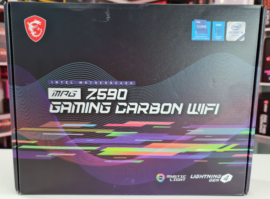 MSI MPG Z590 Gaming Carbon WiFi Motherboard Box Front