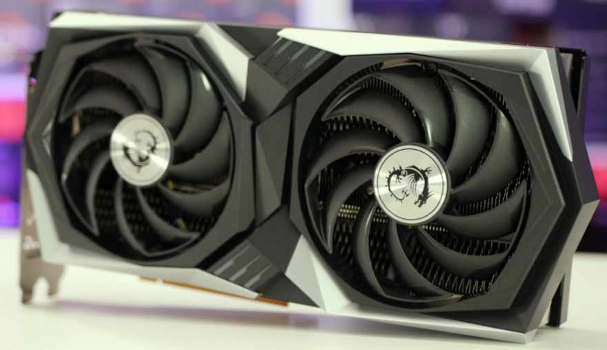 MSI RX 6700 XT Gaming X fans tilted