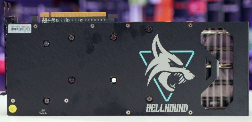 PowerColor HellHound RX 6700 XT backplate