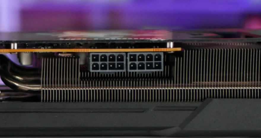 PowerColor HellHound RX 6700 XT power connectors
