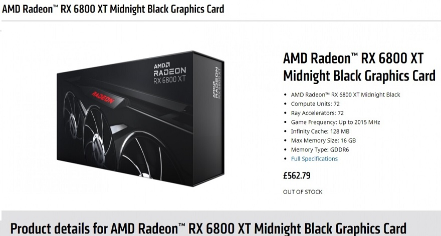 AMD Radeon RX 6800 XT Midnight Black