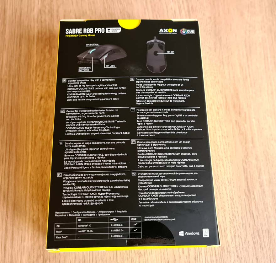 Corsair Sabre RGB Pro Gaming Mouse Review