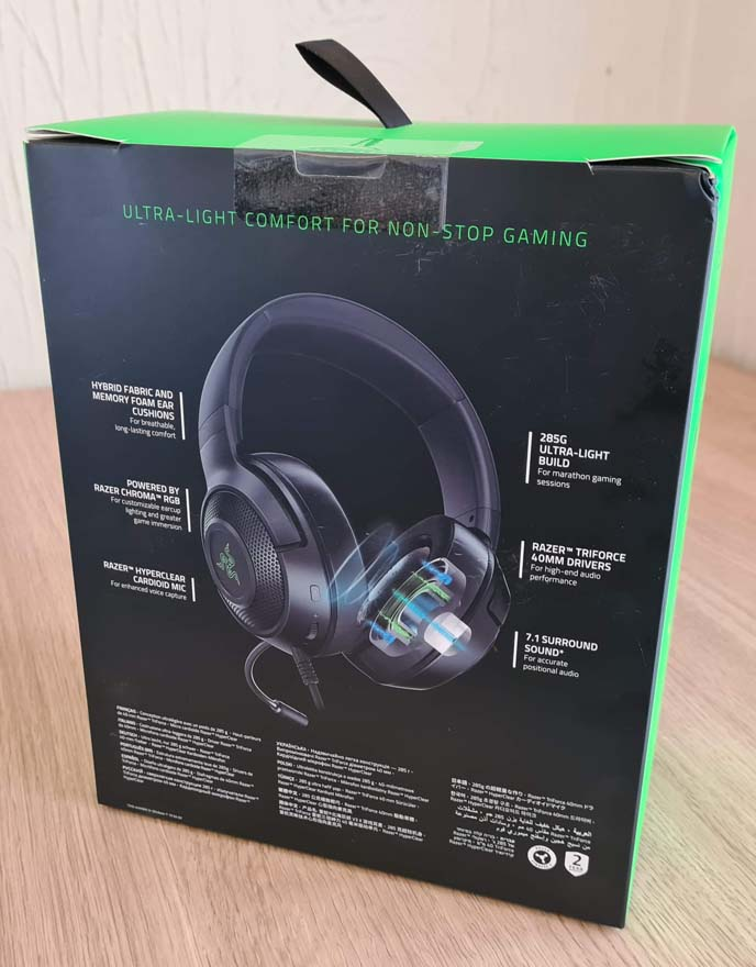 Razer Kraken V3 X Wired USB Gaming Headset