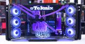 Cooler Master MasterFrame 700 logos lit up straight on