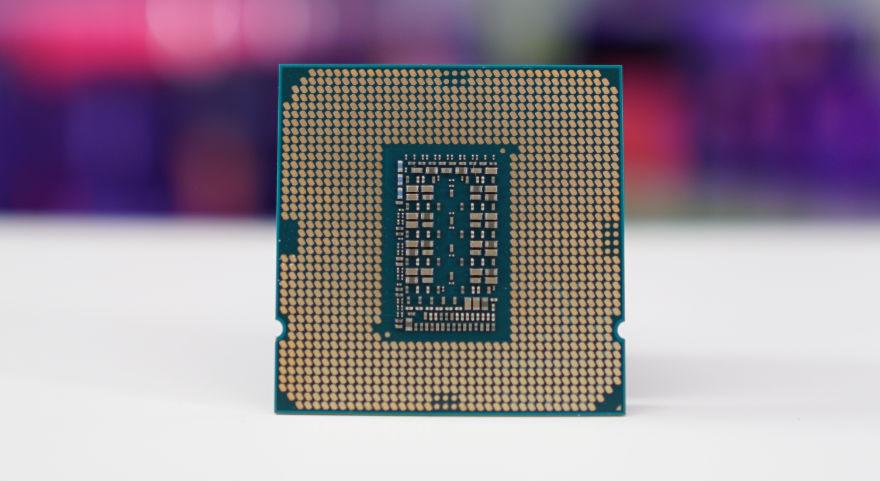 Intel Core I5-11400F CPU underside