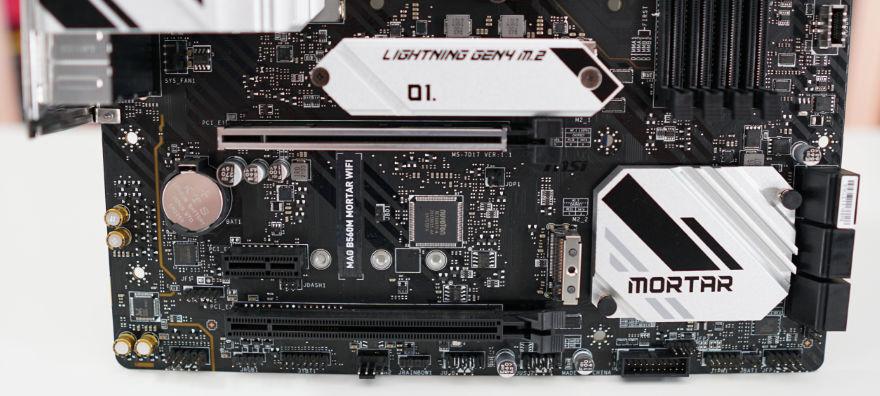 MSI MAG B560M MORTAR WIFI Motherboard bottom half of motherboard