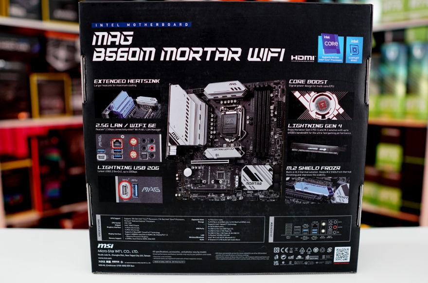 MSI MAG B560M MORTAR WIFI Motherboard box back