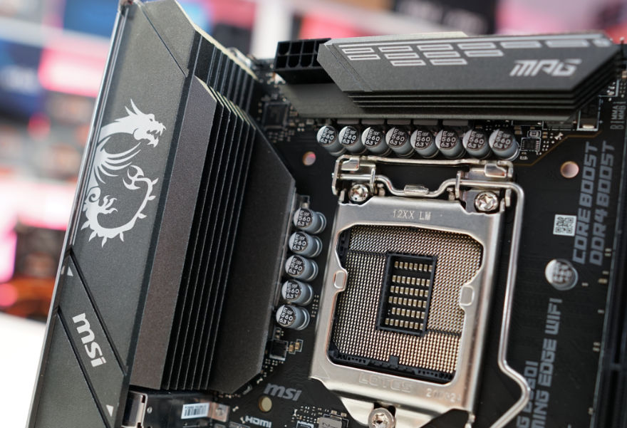 MSI MPG B560I GAMING EDGE WIFI cpu socket and power phases