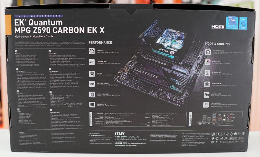 MSI MPG Z590 CARBON EK X box back