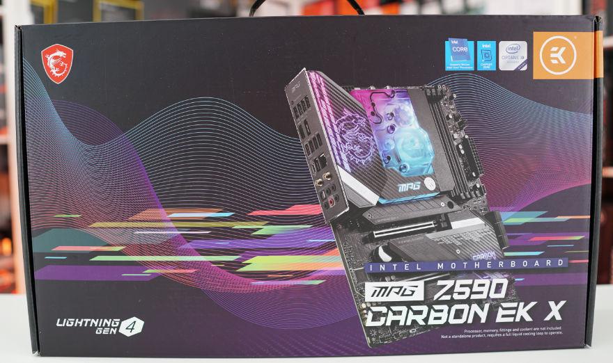 MSI MPG Z590 CARBON EK X Motherboard box front