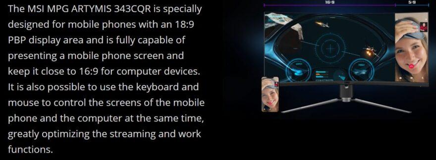 msi artymis mobile projector