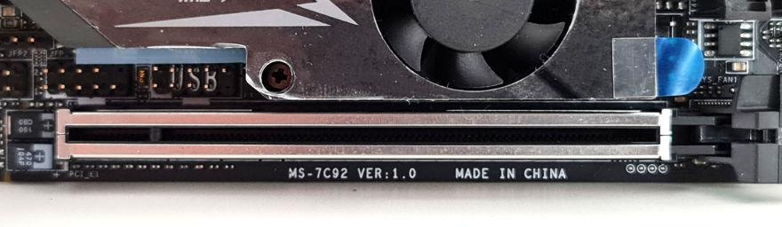 msi mpg b550i gaming edge wifi pcie lane