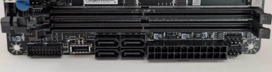 msi mpg b550i gaming edge wifi ram 24 pin power sata usb connectors