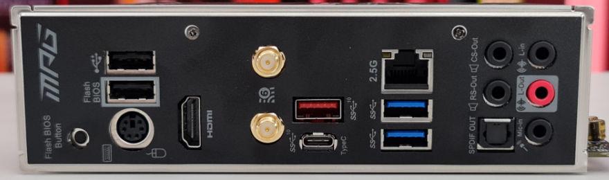 msi mpg b550i gaming edge wifi rear io