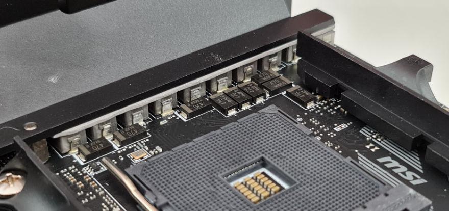 msi mpg b550i gaming edge wifi vrms and chokes