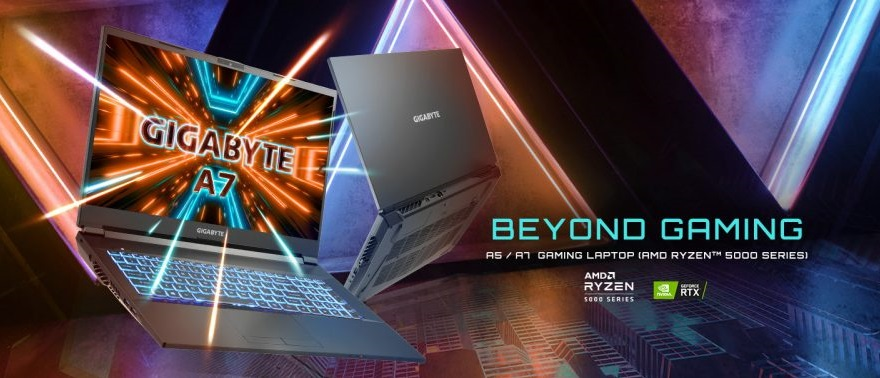 Gigabyte Ryzen-powered Gaming Laptops