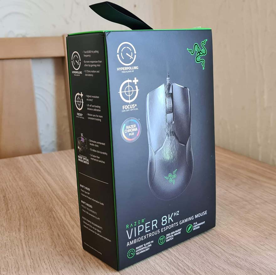 Razer Viper 8K Ambidextrous eSports Gaming Mouse Review