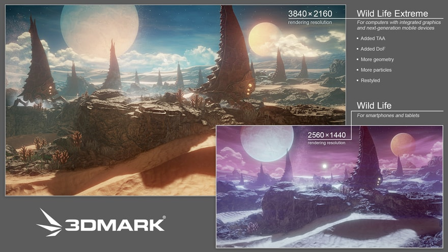3DMark Wild Life Extreme Cross-Platform Benchmark Revealed
