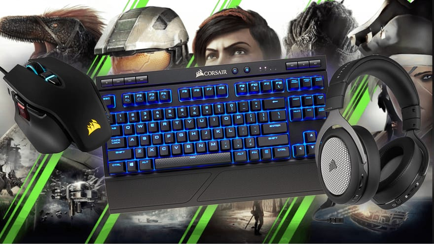 Let's Play Xbox and PC with the Same Corsair Peripherals (and Lapboard)!