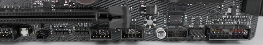 Gigabyte B560M AORUS ELITE Motherboard bottom right headers