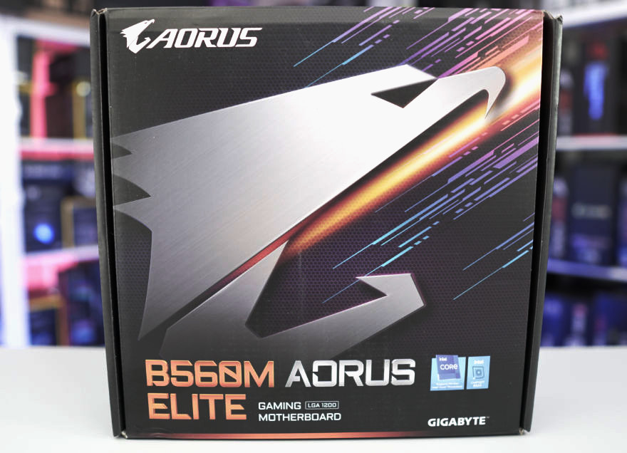 Gigabyte B560M AORUS ELITE Motherboard box front 1