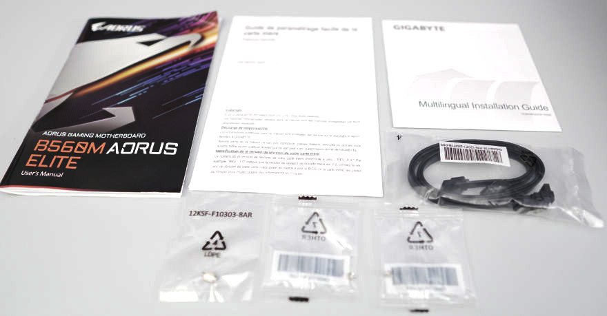 Gigabyte B560M AORUS ELITE Motherboard manuals and accessories 1