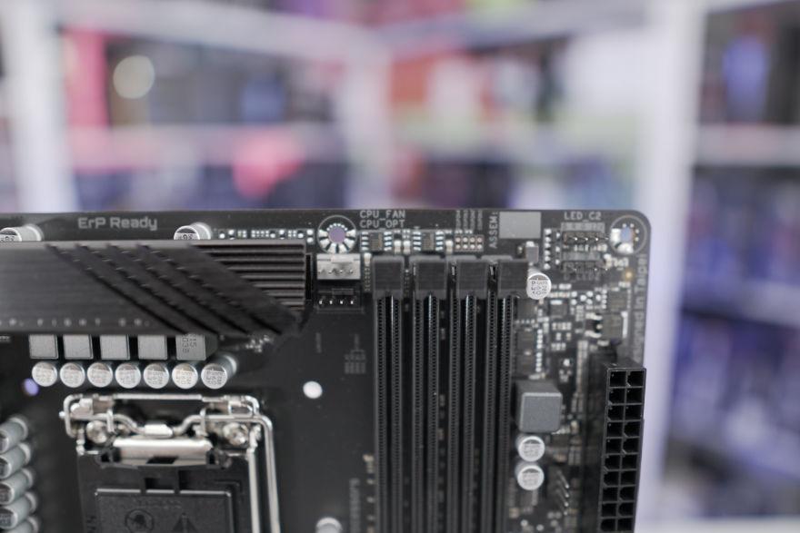 Gigabyte B560M AORUS ELITE Motherboard top right fan headers