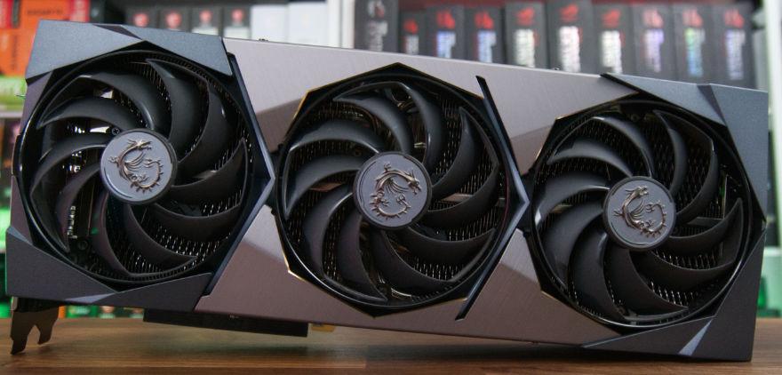 MSI GeForce RTX 3080 Ti SUPRIM X fan profile shot