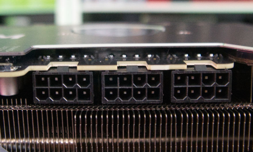 MSI GeForce RTX 3080 Ti SUPRIM X power connectors 2