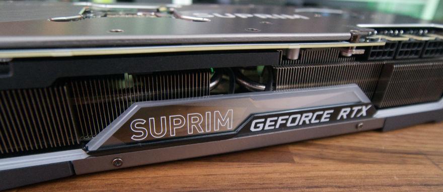 MSI GeForce RTX 3080 Ti SUPRIM X side shot slanted