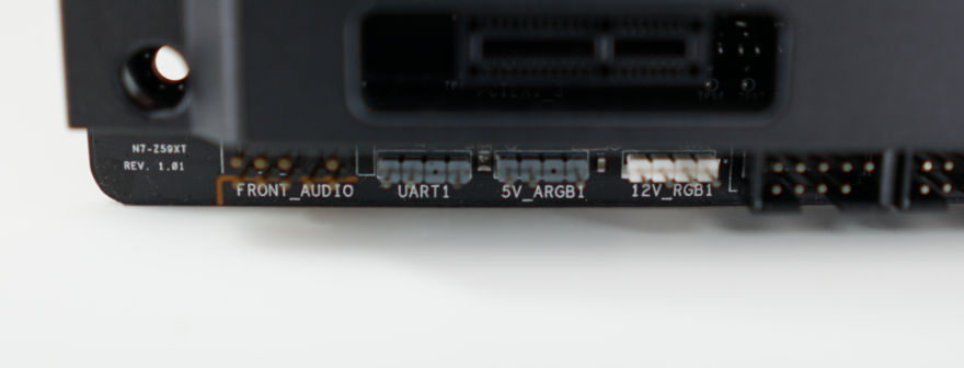 NZXT N7 Z590 Motherboard bottom left connectors