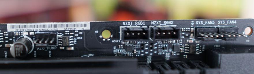 NZXT N7 Z590 Motherboard pump rgb fan headers