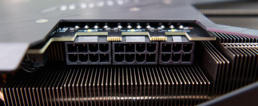 Gigabyte RTX 3070 Ti AORUS MASTER power connectors