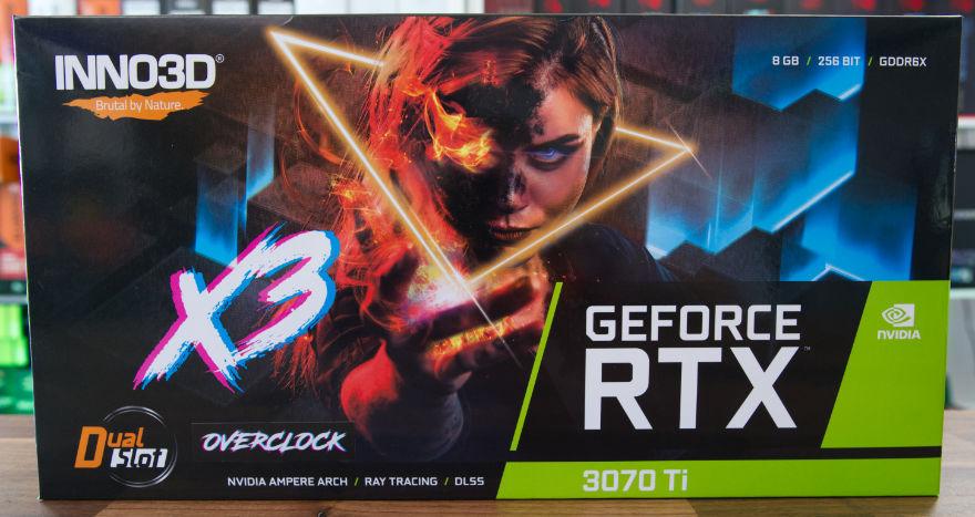 INNO3D RTX 3070 Ti X3 OC box front