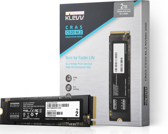 ESSENCORE Unveils KLEVV CRAS C920 & C720 M.2 NVMe SSDs