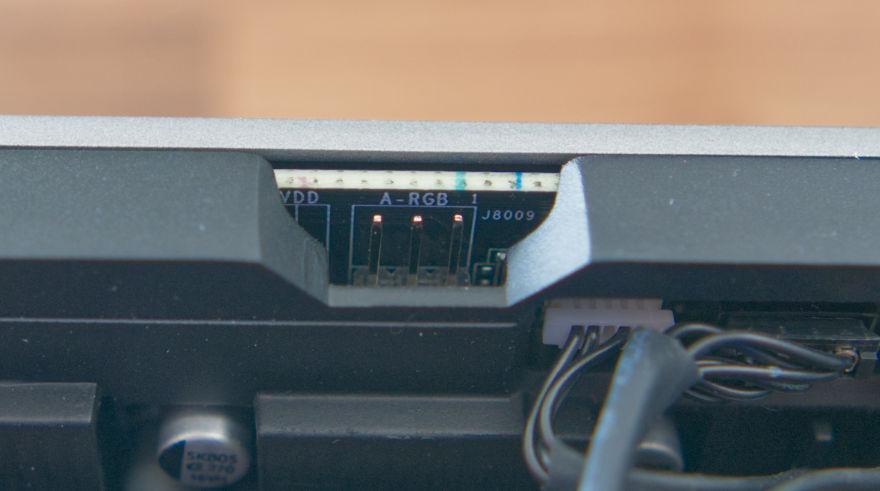 PALIT RTX 3070 Ti GameRock argb header