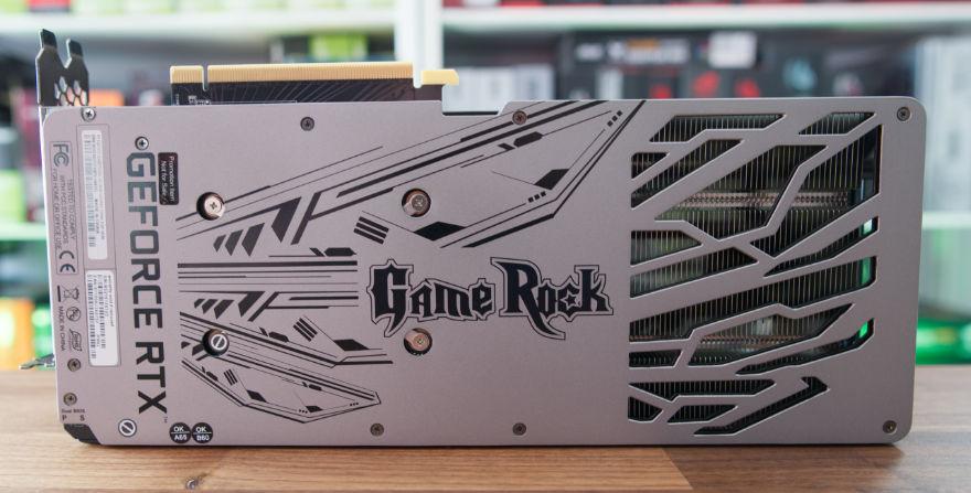 PALIT RTX 3070 Ti GameRock backplate
