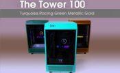 The Tower 100 Turquoise.Racing Green.Metallic Gold