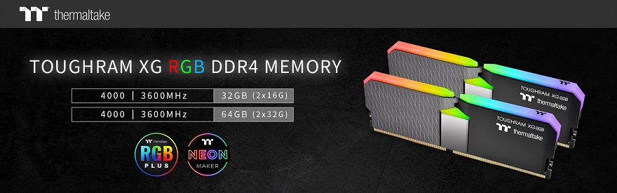 Thermaltake Unveil Larger Capacity TOUGHRAM XG RGB Kits