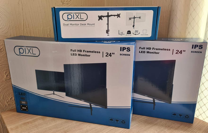 "piXL 24"" LED IPS Dual Monitor Bundle Review"