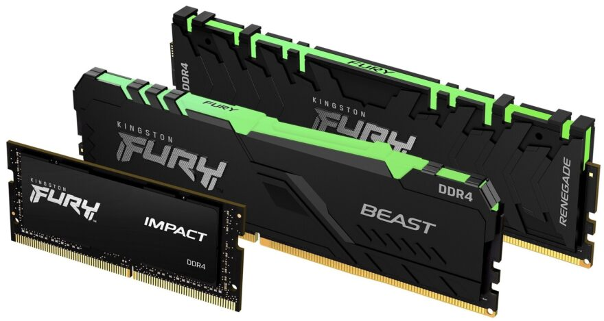 Kingston FURY Series Launches With DDR3, DDR4 and SODIMM Options