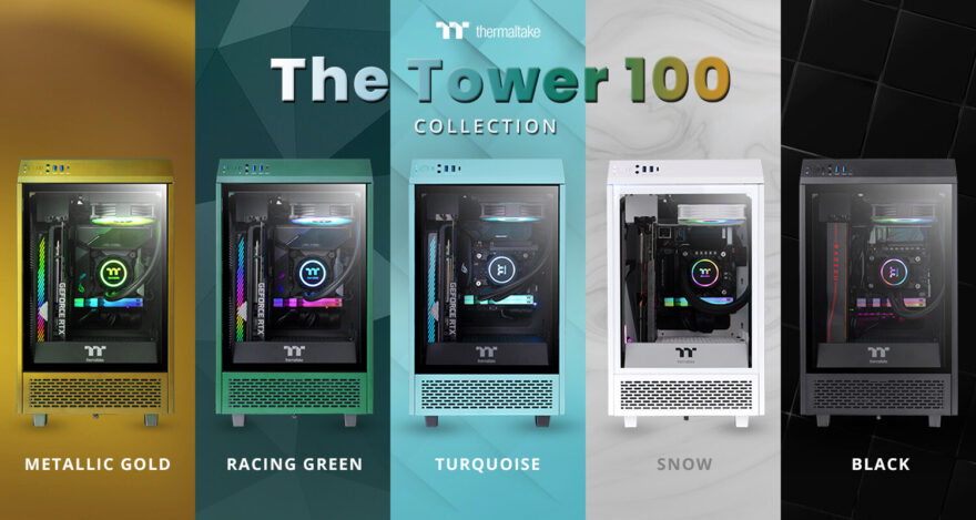 Thermaltake The Tower 100 Mini Goes Turquoise & Racing Green