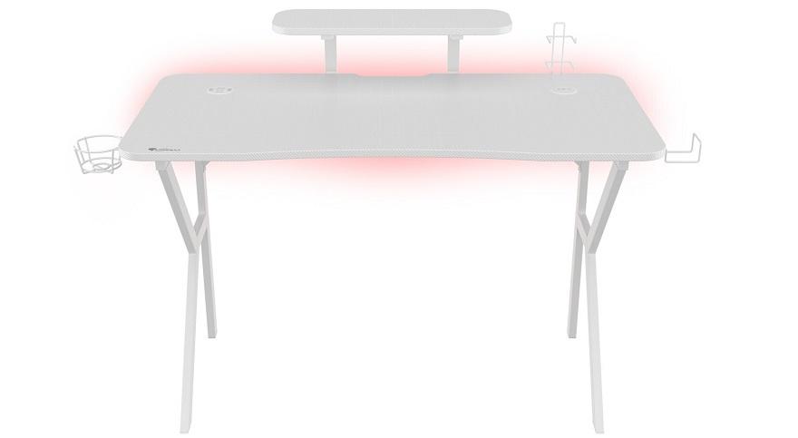 Genesis HOLM 320 RGB White Gaming Desk