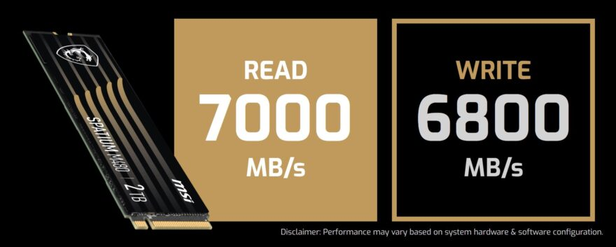 MSI SPATIUM M480 PCIe 4.0 NVMe M.2 SSD Review
