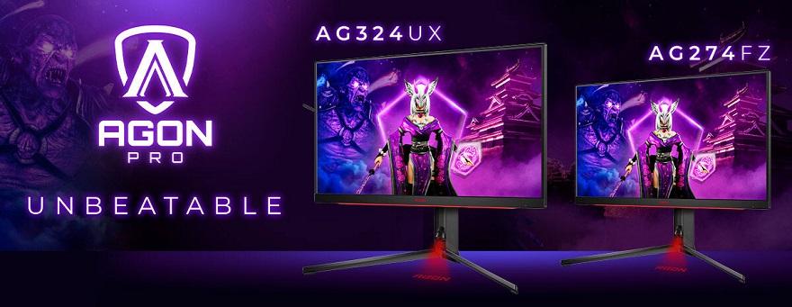 AGON by AOC PRO E-Sports Monitors AG324UX and AG274FZ