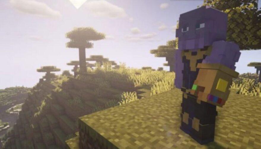 Modder Adds Infinity Gauntlet to Minecraft